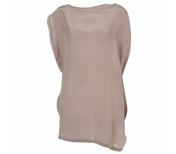Tunique en soie gris-rose asymétrique, 55£