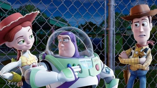 Les mésaventures de Buzz sont une fois de plus hilarantes dans Toy Story 3: ici en mode hispanique, il joue les latin lovers auprès de la cowgirl Jessie, au grand dam de Woody.