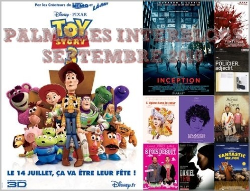 Palmarès Interblogs septembre 2010