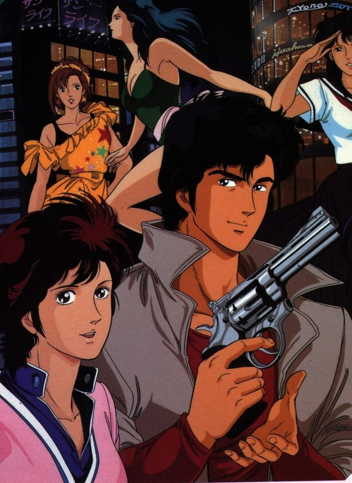 image dessin animé city hunter nicky larson
