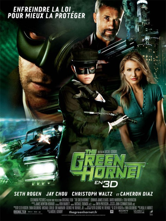 image affiche the green hornet michel gondry