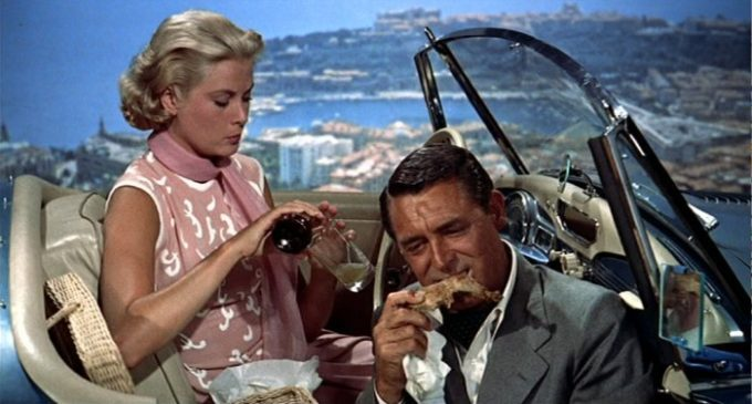 image pique-nique grace kelly cary grant la main au collet
