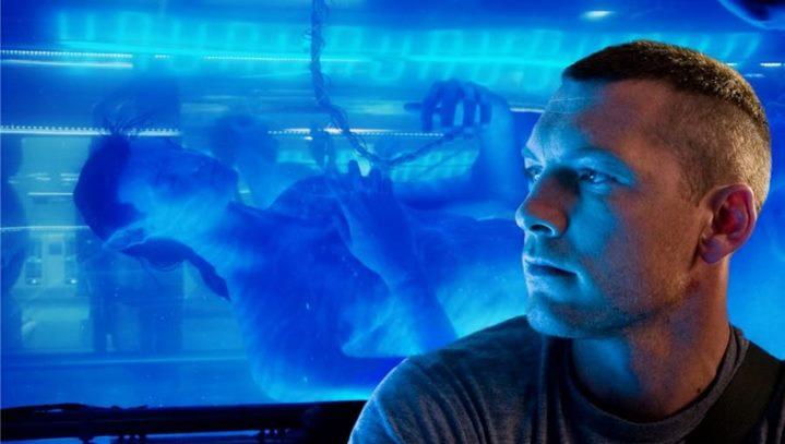 """Jack (Sam Worthington) et son avatar dans le film """"Avatar"""" de James Cameron."""