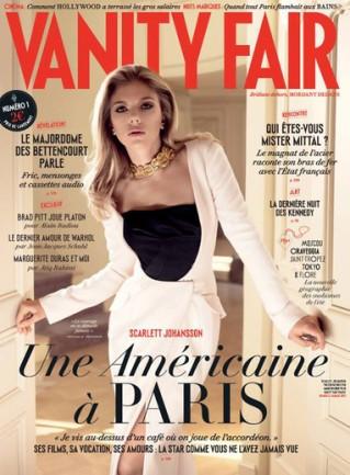 image couverture vanity fair numéro 1 scarlett johansson