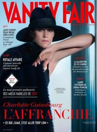 image couverture vanity fair charlotte gainsbourg octobre 2013