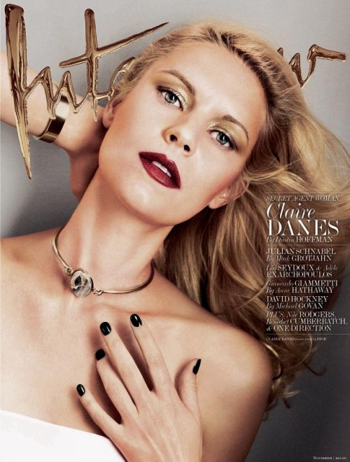 Claire Danes dans Interview et Vogue UK