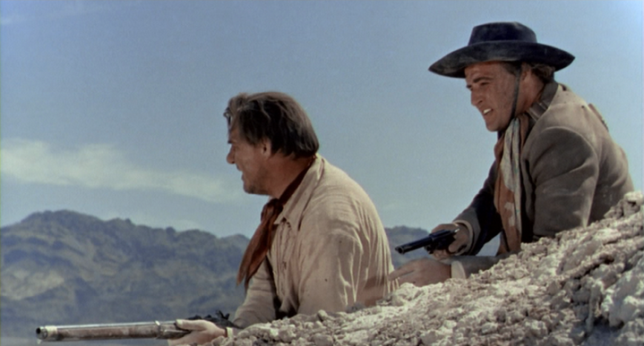 Dad Longworth (Karl Malden) et Rio dit The Kid (Marlon Brando), La Vengeance aux deux visages