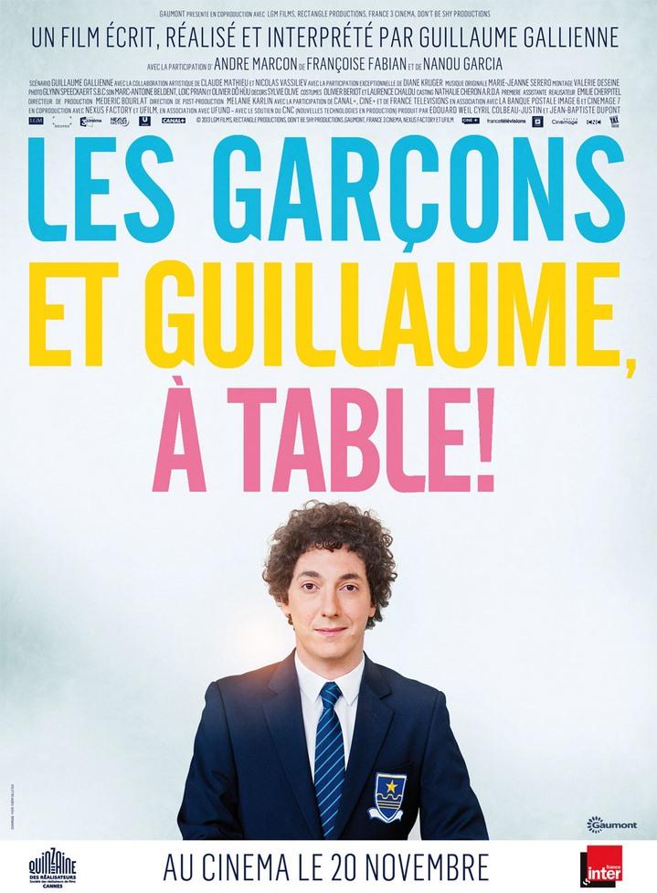les garçons et Guillaume à table de Guillaume Gallienne (2013)