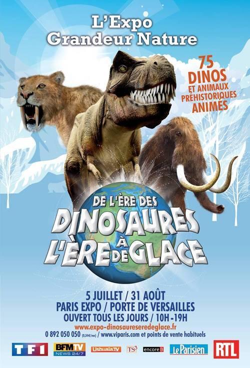 expo des dinosaures à l'ère de glace