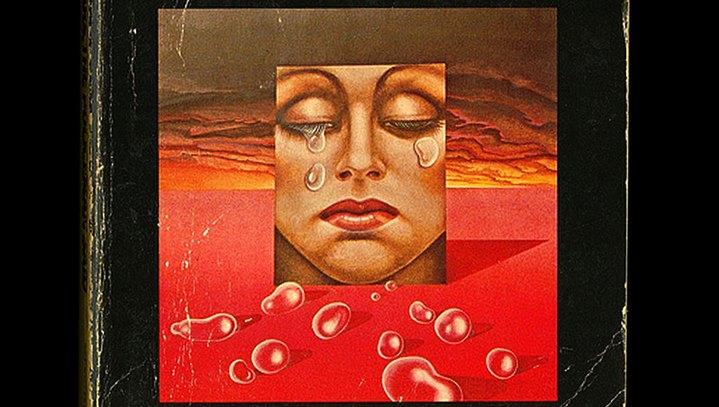 """Illustration de couverture de l'édition américaine de """"Flow my Tears, The Policeman Says"""" de Philip K. Dick."""