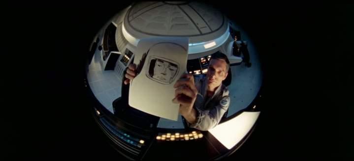 Dave Bowman (Keir Duella) vu par Hal 9000.