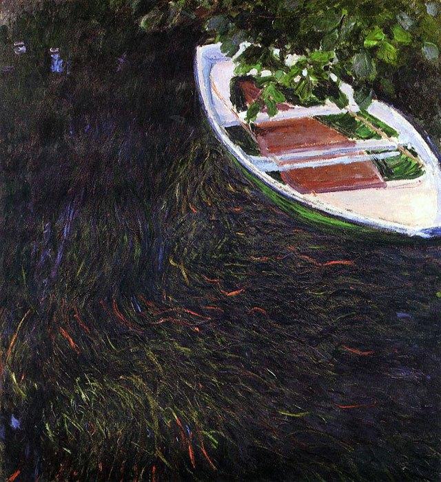 La Barque de Claude Monet (1887).