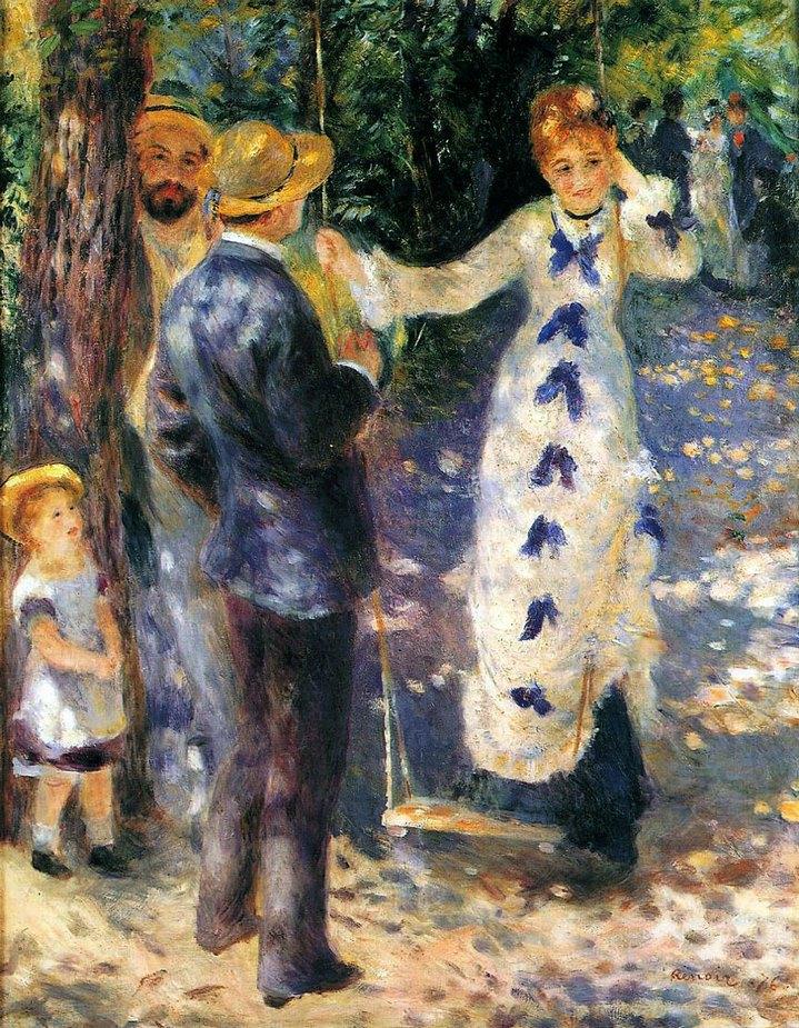 La Balançoire, tableau de Pierre-Auguste Renoir (1876).