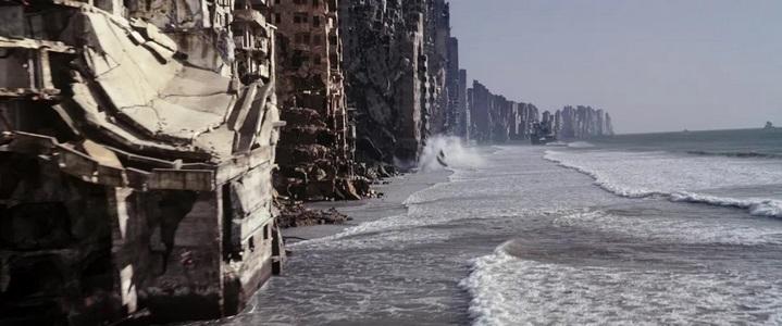 Les rivages des limbes dans Inception.