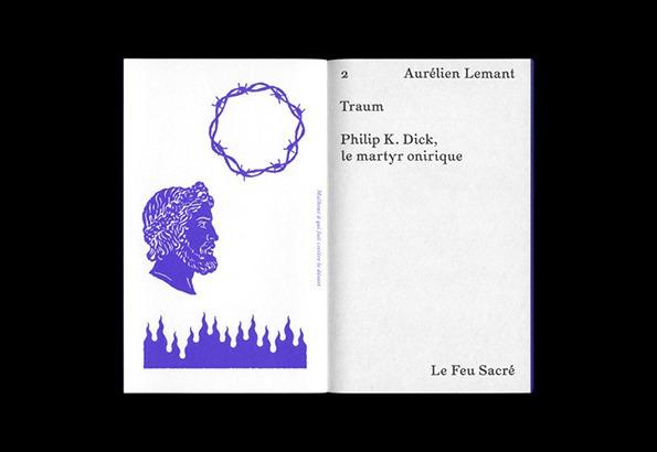 """Frontispice de """"Traum : Philip K. Dick, le martyr onirique"""", essai d'Aurélien Lemant."""