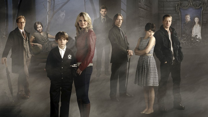 "ONCE UPON A TIME - ABC's ""Once Upon a Time"" stars Raphael Sbarge as Jiminy Cricket/Archie, Lana Parrilla as Evil Queen/Regina, Jared Gilmore as Henry, Jennifer Morrison as Emma Swan, Robert Carlyle as Rumplestiltskin/Mr. Gold, Ginnifer Goodwin as Snow White/Mary Margaret and Josh Dallas as Prince Charming/John Doe. Jamie Dornan (middle) guest stars as Sheriff Graham. (ABC/KHAREN HILL)"