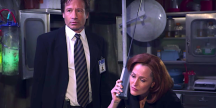 image david duchovny gillian anderson x-files jimmy kimmel sketch