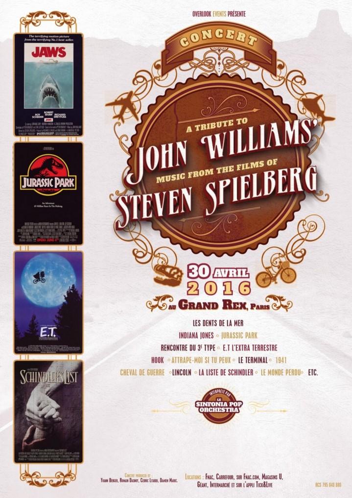 image affiche concert hommage john williams steven spielberg grand rex