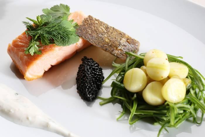 image pavé saumon le boeuf sur le toit