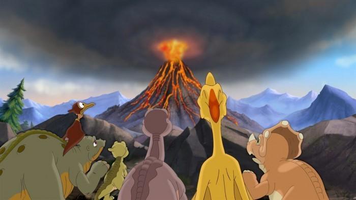 image volcan petit pied le petit dinosaure l'expédition héroïque universal pictures video