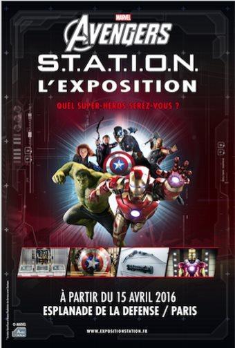 image affiche marvel avengers station