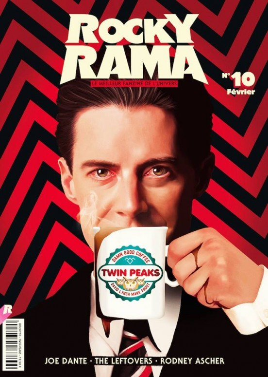 image couverture dale cooper rockyrama février 2016 dossier twin peaks