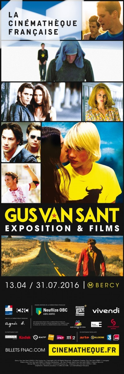 image affiche complète exposition gus van sant la cinémathèque française