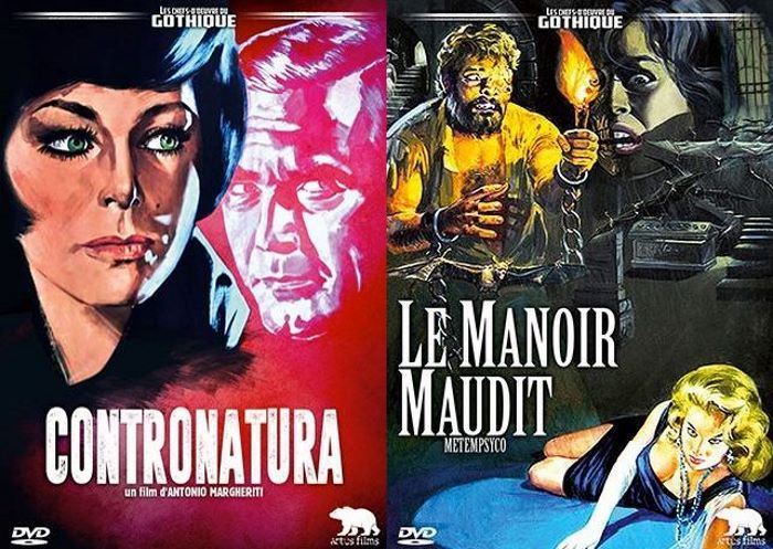 [News – DVD] Artus Films : Le manoir maudit et Contronatura bientôt disponibles
