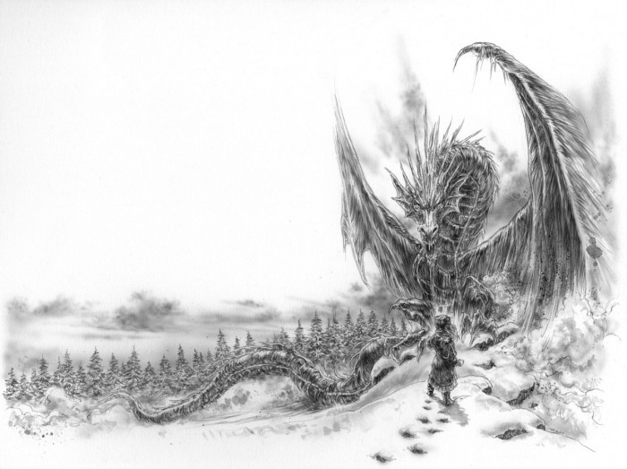 image illustration luis royo dragon de glace george r. r. martin