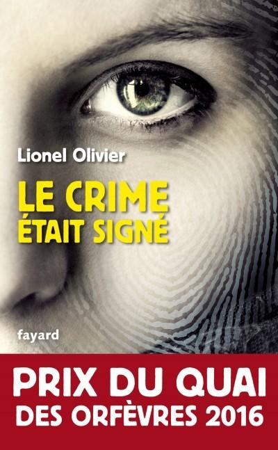 image couverture le crime était signé lionel olivier fayard