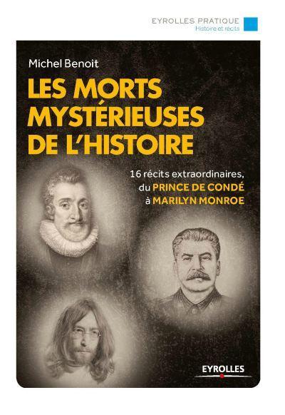 image couverture les morts mystérieuses de l'histoire