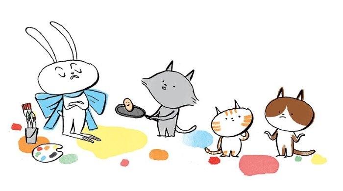 image livre trois petits chats