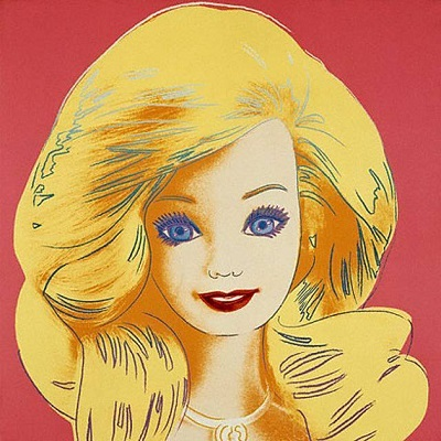 image andy warhol portrait barbie 1985