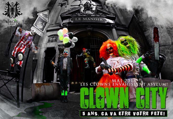 image le manoir de paris clown city