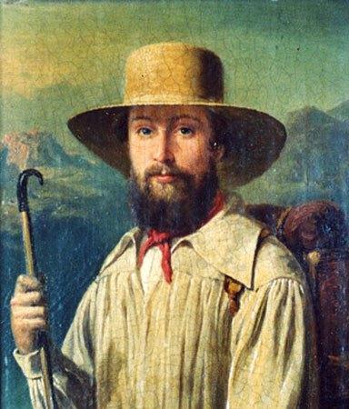 image peinture john chapman johnny appleseed