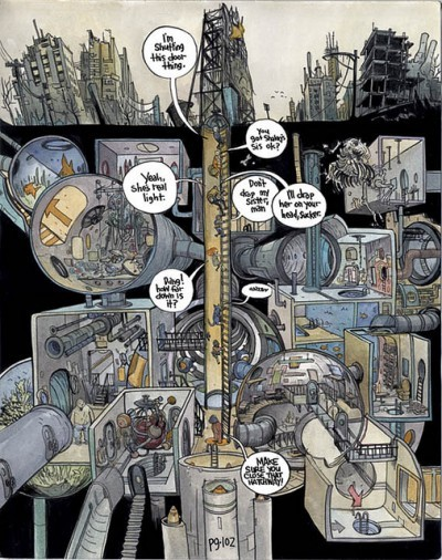 image planche plan en coupe the wrenchies farel dalrymple