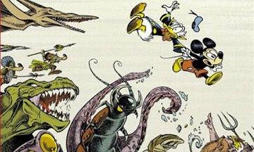 image gros plan couverture mickey's craziest adventures lewis trondheim nicolas keramidas éditions glénat