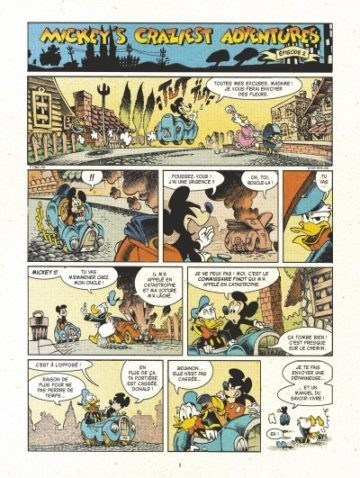 image planche 1 mickey's craziest adventures lewis trondheim nicolas keramidas glénat