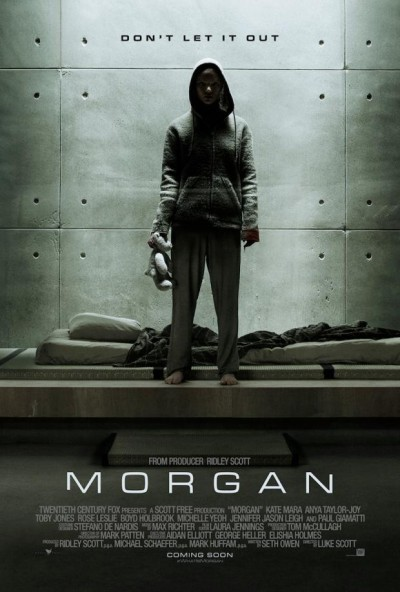 [News – Cinéma]  Morgane : découvrez la bande-annonce du film avec Kate Mara, produit par Ridley Scott