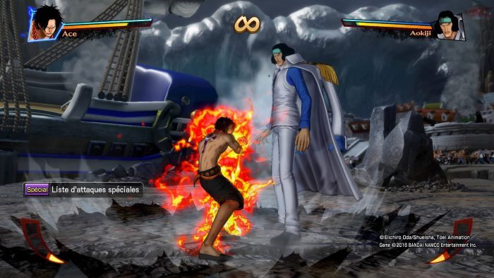 image gameplay one piece burning out