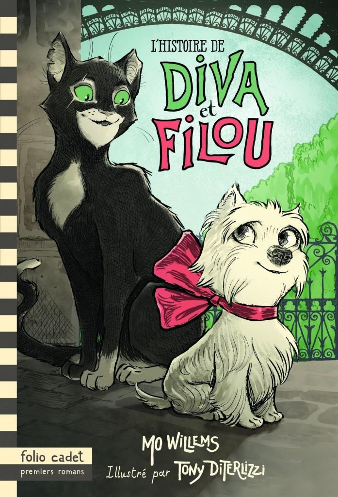 image couverture l'histoire de diva et filou mo willems tony diterlizzi gallimard jeunesse