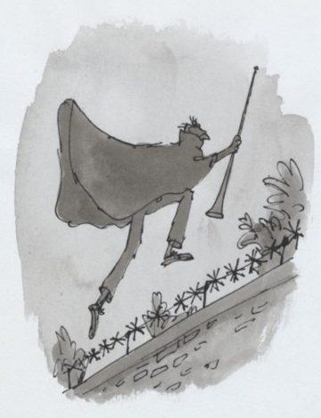 image le bon gros géant de roald dahl illustration quentin blake le bgg saute par-dessus le mur