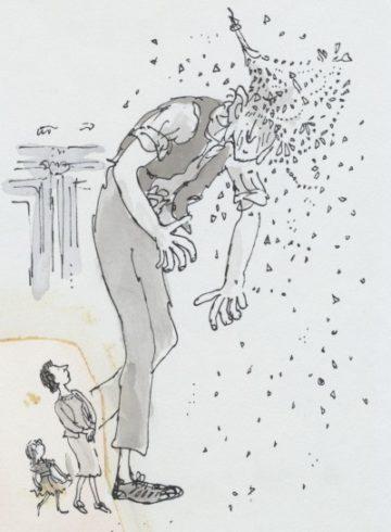 image le bon gros géant de roald dahl illustration quentin blake le bgg heurte un lustre