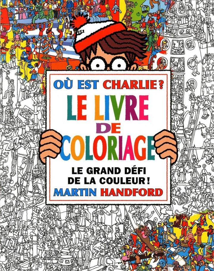 image couverture où est charlie le grand livre de coloriage gründ