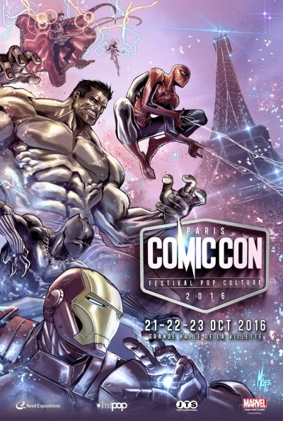 [Comic Con Paris 2016] L'affiche de l'édition 2016 par Marco Checchetto