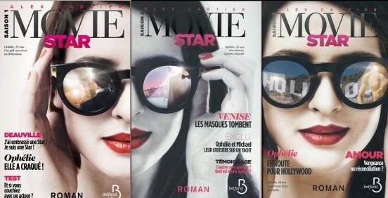 image couvertures trilogie movie star alex cartier éditions belfond