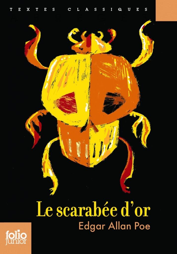 image couverture le scarabée d'or edgar allan poe folio junior