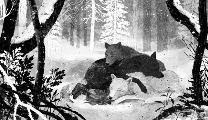 image illustration gelrev ongbico pour coeur de loup loups endormis