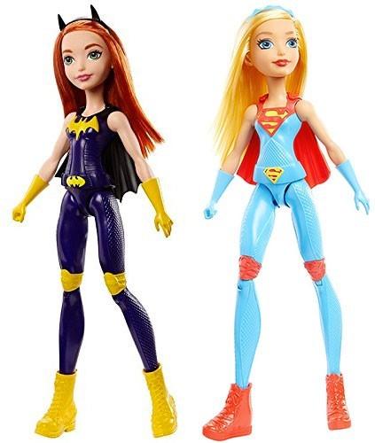 image poupées dc entertainment batgirl supergirl mattel