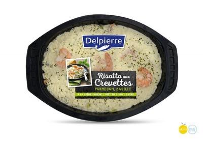 image delpierre risotto aux crevettes, parmesan, basilic